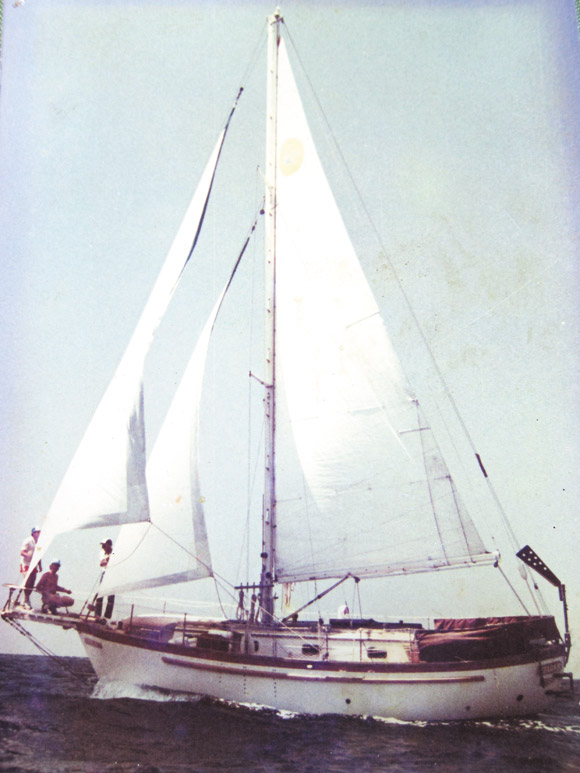 The boat Soltysik built and sailed from California to Hawaii 28 years ago.